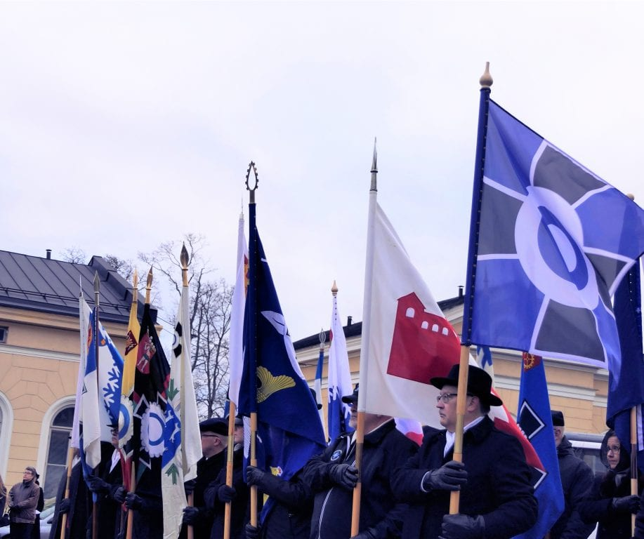 Lippulinna Hämeenlinnassa marraskuussa 2018
