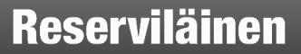 Reserviläinen lehden mustavalkoinen banneri